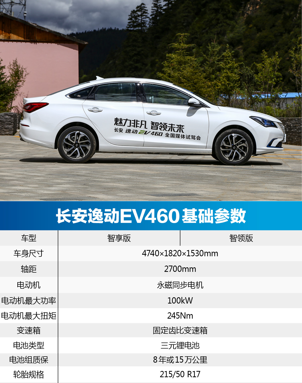 首推智领版 长安逸动EV460购车手册