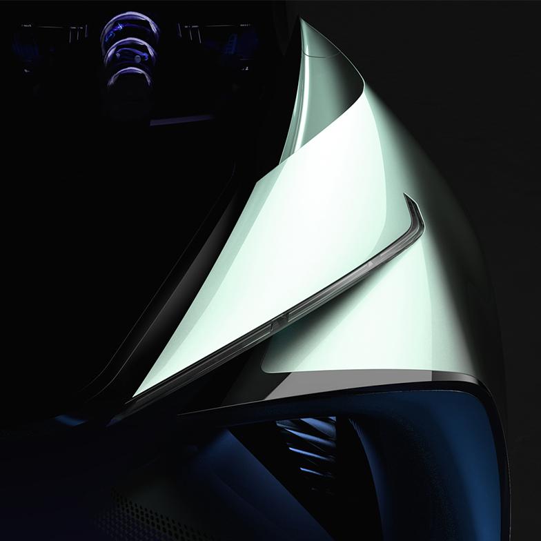 雷克萨斯首款纯电动概念车预告图 东京车展首发