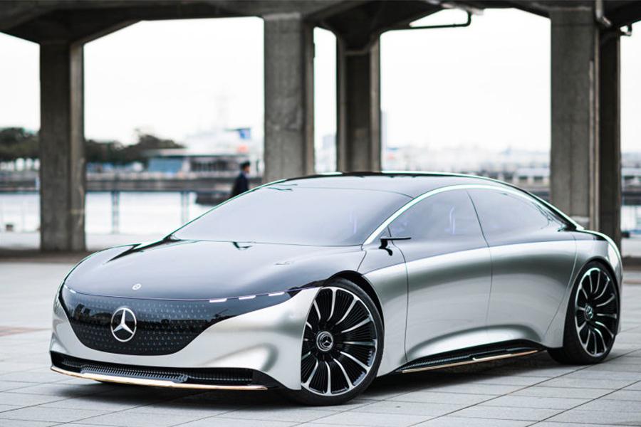 奔驰纯电动中大型车EQS量产版预告图曝光