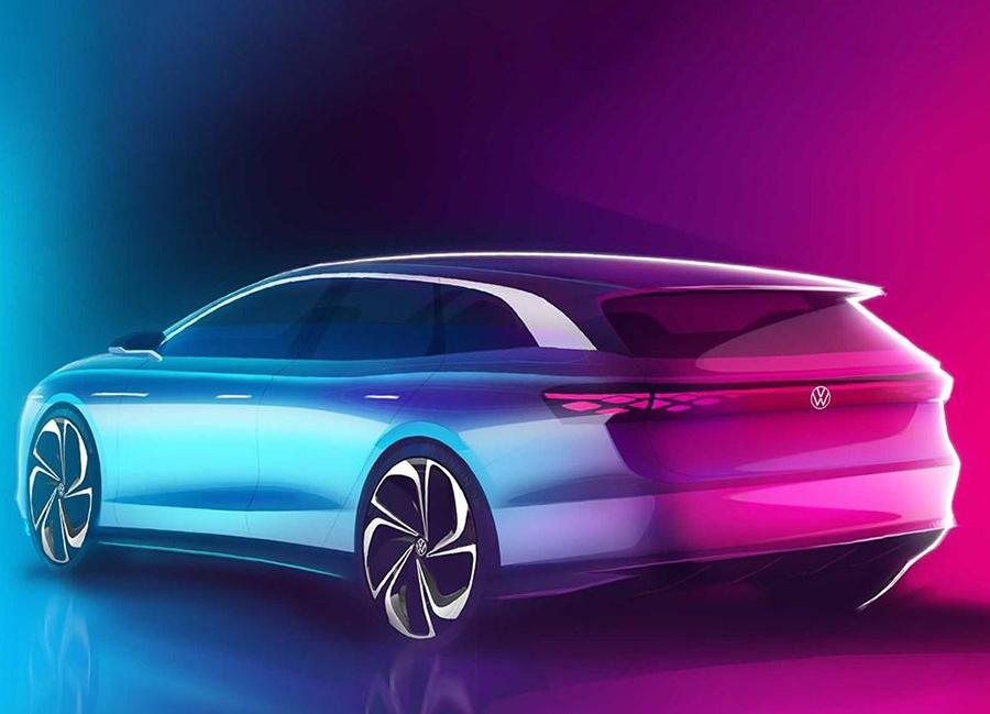 大众ID. Space Vizzion概念车设计图发布 将于洛杉矶车展亮相