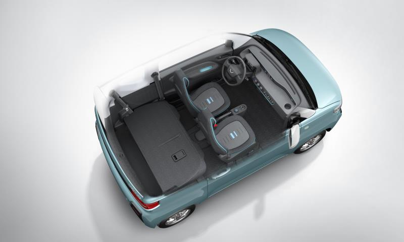 麻雀雖小五臟俱全 五菱新純電動微型車內飾官圖發布