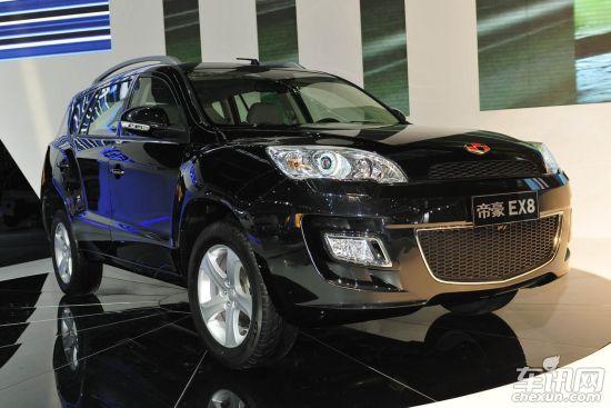 吉利7座SUV帝豪EX8明年初上市 轴距2.8米高清图片