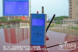 雷克萨斯CT200h功能测试 PM2.5隔离率72%