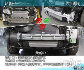 H6/RX5/博越拆解对比