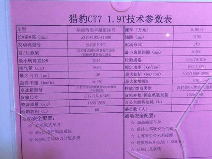 猎豹CT7皮卡将于1月12日上市 8.98万元起售