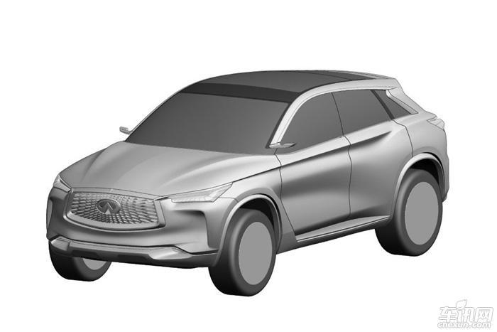 英菲尼迪QX50申报图曝光 保留概念车造型