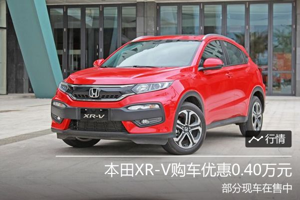 本田XR-V购车优惠0.40万元 哈尔滨现车销售