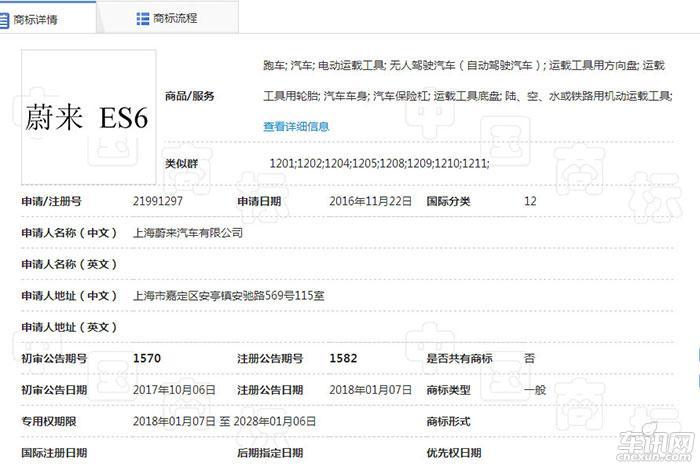 蔚来ES6或将2018北京车展亮相 可续航500km