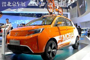 摩拜共享汽车参加北京车展 车身涂装很亮眼