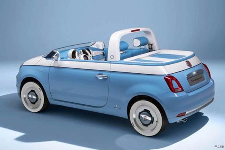 菲亚特500两款特别版官图 拥有独特蓝白色
