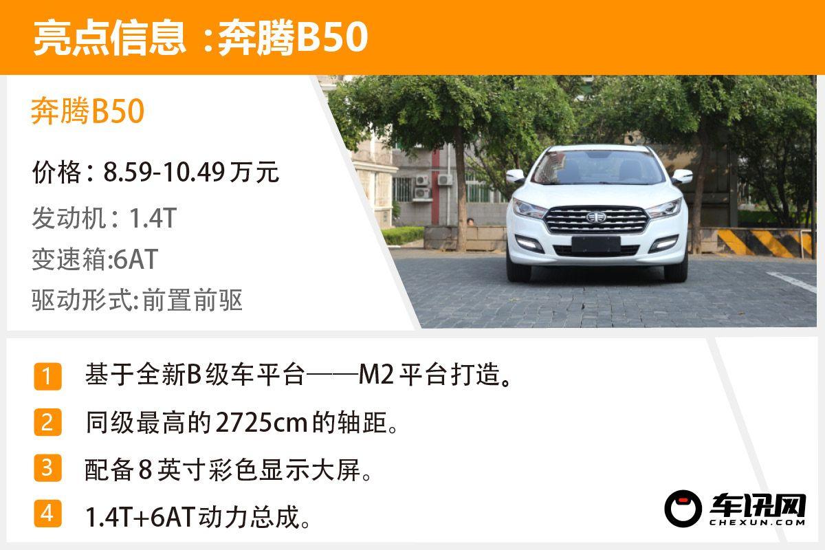 定位運動/配置升級 實拍2019款一汽奔騰B50