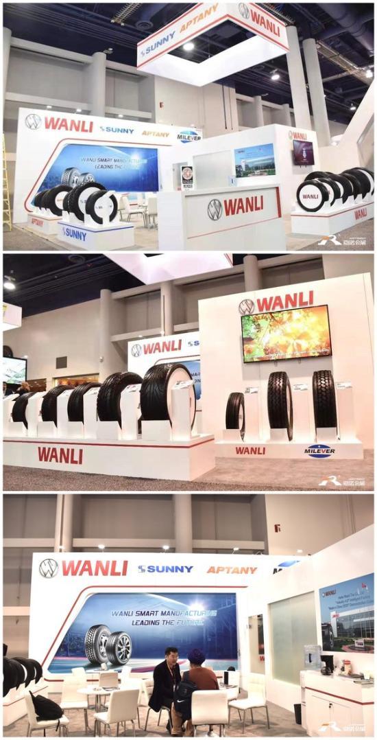 中国万力轮胎SEMA展会现场展台图片