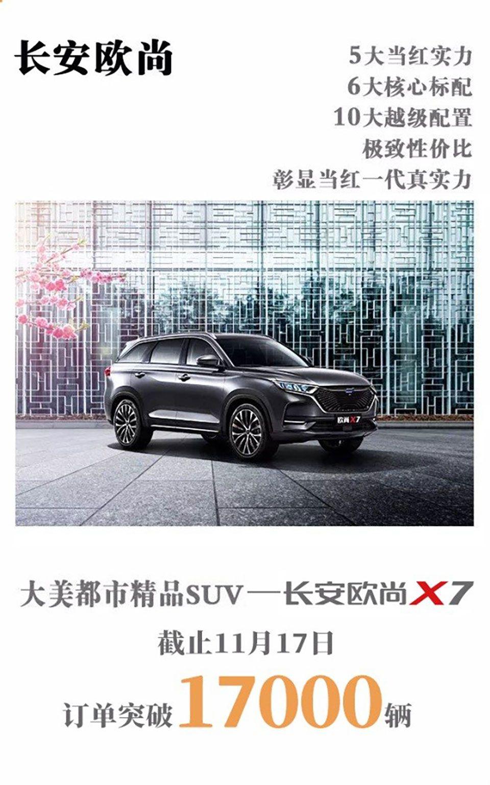 """""""当红一代""""长安欧尚X7将于11月29日在北京人民大会堂上市"""