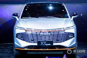 哈弗在2021上海车展展示家族新旗舰:XY概念车