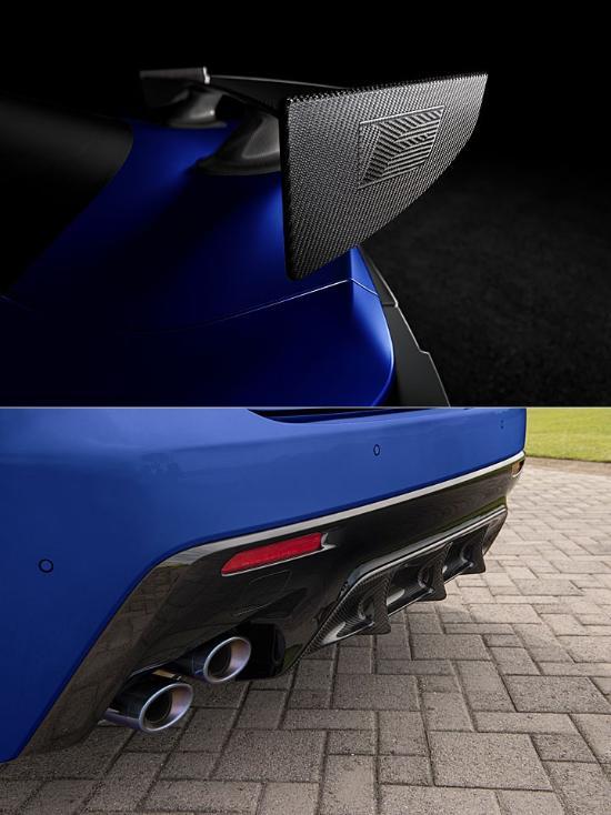 碳纖維尾翼,雷克薩斯RC F富士賽道版,比M4兇多了